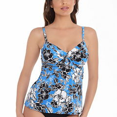 Trimshaper Floral Tankini Swimsuit Top