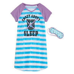 Total Girl Short Sleeve Nightgown-Big Kid Girls