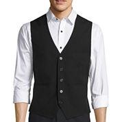 WD.NY BLACK Basic Solid Black Vest