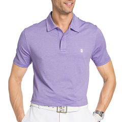 IZOD Golf Performance Cutline Stretch Short Sleeve Solid Polo Shirt