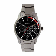 geneva men s watches for jewelry watches jcpenney geneva mens gunmetal bracelet watch