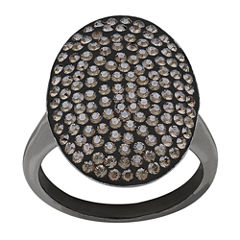 LIMITED QUANTITIES! Crystal Black Rhodium Sterling Silver Ring