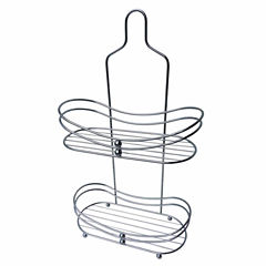 Elegant 2-Shelf Curved Shower Caddy