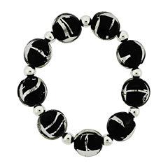 Dazzling Designs™ Zebra Glass Bead Stretch Bracelet