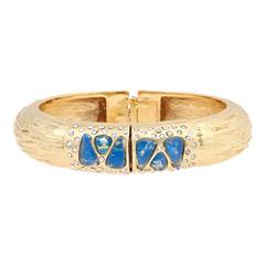 10021 | Kara Ross Crystal & Blue Resin Bangle Bracelet
