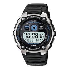 Casio® Mens Black Resin Strap Solar Sport Watch AE2000W-1AV