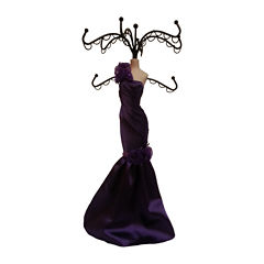 Purple Dress Jewelry Stand Organizer