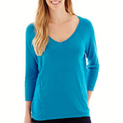 Stylus™ 3/4-Sleeve Relaxed Fit  Mixed Media T-Shirt