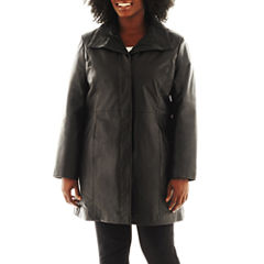 Excelled Leather Pencil Coat - Plus