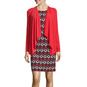 R&K Originals® Long-Sleeve Geometric Print Jacket Dress