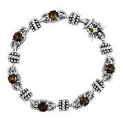 Shey Couture Smoky Quartz Sterling Silver Antiqued Bracelet