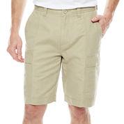 Island Shores™ Linen-Cotton Cargo Shorts