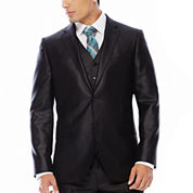 JF J. Ferrar® Black Shimmer Suit Jacket - Slim Fit