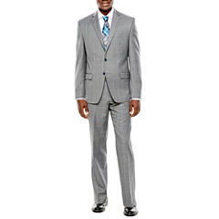 Collection by Michael Strahan Gray Windowpane Suit Separates - Classic Fit