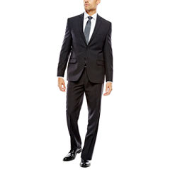 Collection by Michael Strahan Black Striped Suit- Classic