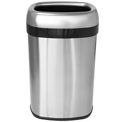 iTouchless® 13-Gal. Commercial-Grade Dual-Deodorizer Stainless Steel Trash Can