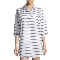 a.na Stripe Shirt Dress
