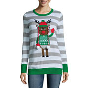 Tiara Reindeer Crew Neck Sweater