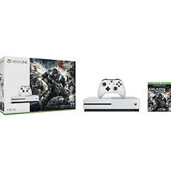 Microsoft - Xbox One S 1TB Gears Of War 4 Console Bundle - White