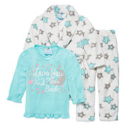 Girls Pajamas + Robe Set-Preschool
