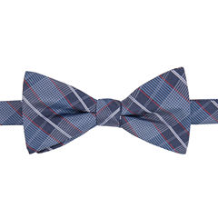 STAFFORD RIVERSIDE PLAID PRE-TIED BOWTIE