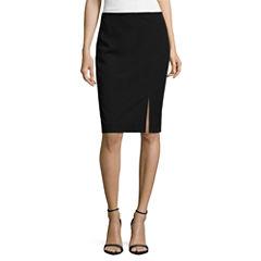 Worthington Off-Center Slit Pencil Skirt