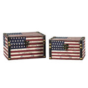 Household Essentials American Flag 2-pc. Storage Bin