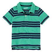 Arizona Short Sleeve Stripe Pique Polo Shirt - Toddler