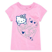 Hello Kitty Girls Hello Kitty Graphic T-Shirt-Toddler