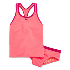 Nike Girls Solid Tankini Set - Big Kid