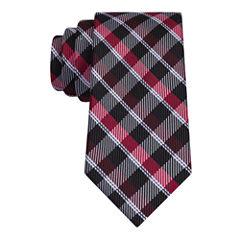 J.Ferrar Senior Dark Gingham Plaid XL Tie