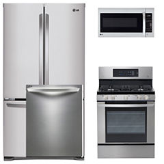LG 4-pc. Gas Kitchen Package- Black Stainless