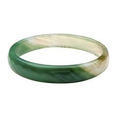 Dyed Green Quartz Bangle Bracelet