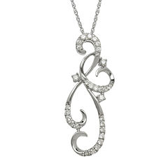 1/8 CT. T.W. Diamond 10K White Gold Pendant Necklace