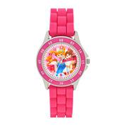 Girls Pink Strap Watch-Pn1078jc