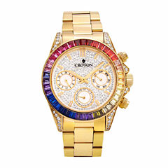 Croton Womens Gold Tone Bracelet Watch-Cn307565ylmc