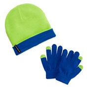Weatherproof Slouch Beanie & Gloves Set - Boys 8-20