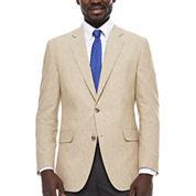 Stafford Linen Cotton Sand Sport Coat- Classic Fit
