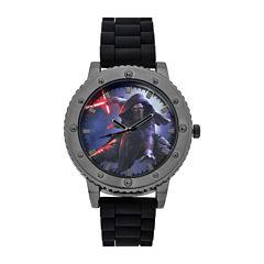Star Wars®Mens Black Strap Watch