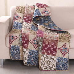 Greenland Home Fashions Charmed Cranberry Quilted Throw
