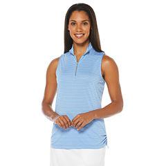 PGA TOUR® Sleeveless Stripe Polo Shirt