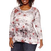 Unity World Wear Long Sleeve Scoop Neck T-Shirt-Plus