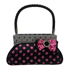Black & Pink Polka Dot Purse Ring Holder