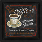 Coffee House Framed Canvas Wall Art