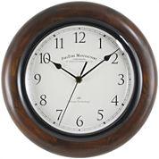 Walnut Round Whisper Wall Clock