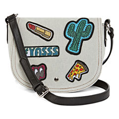 Arizona Gretchen Patch Flap Saddle Crossbody Bag