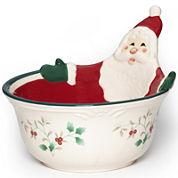 Pfaltzgraff® Winterberry Santa All-Purpose Bowl