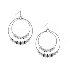 Nicole By Nicole Miller Hoop Earrings