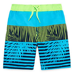 Arizona Boys Leaf Swim Trunks-Preschool