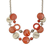 Mixit™ Orange Shell Two-Row Necklace